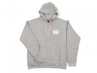 "BSD ""Established"" Hooded Pullover - Heather Grey"