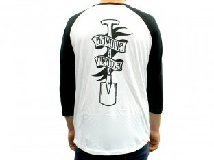 "Barons of Trails ""Spade"" 3/4 Longsleeve - White/Black"
