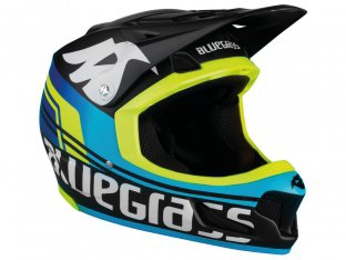 "Bluegrass ""Brave"" Fullface Helm - Black/Cyan/Yellow"
