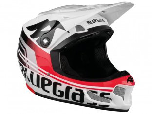 "Bluegrass ""Brave"" Fullface Helm - White/Red"