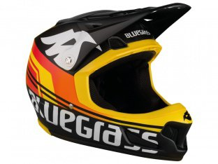 "Bluegrass ""Brave"" Fullface Helm - Black/Orange/Yellow"