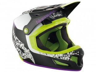"Bluegrass ""Brave"" Fullface Helmet - Black/Purple/Green"