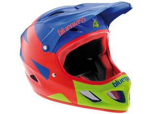 "Bluegrass ""Explicit"" Fullface Helmet - Blue/Red/Green"