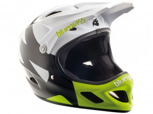 "Bluegrass ""Explicit"" Fullface Helmet - White/Black/Yellow"