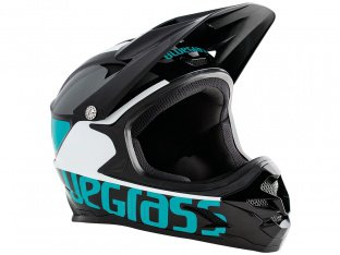 "Bluegrass ""Intox"" Fullface Helm - Black/Cyan/White"