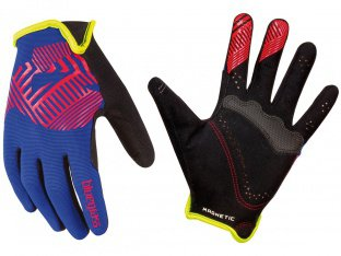 "Bluegrass ""Magnete Rock"" Gloves - Blue/Red/Green"