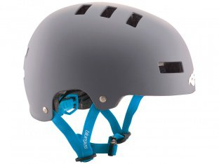 "Bluegrass ""Super Bold"" Helm - Matt Grey / Cyan"