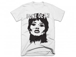 "Bone Deth ""Face"" T-Shirt - White"