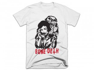 "Bone Deth ""Phonelove"" T-Shirt - White"