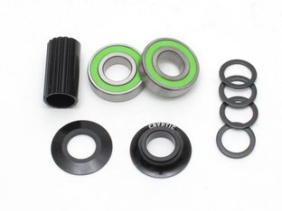 "Cryptic BMX ""Flow Mid BB"" Bottom Bracket - Black"