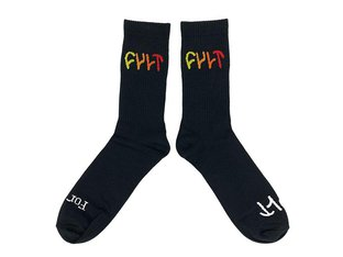 "Cult ""Multicolor Logo"" Socks - Black"