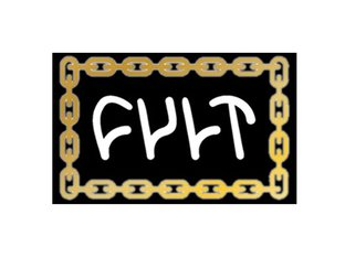 "Cult ""Chain Logo"" Sticker - Black/Gold"