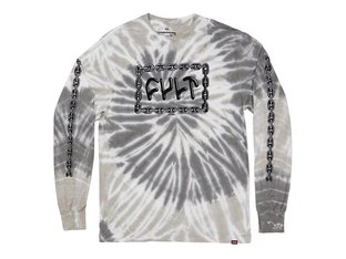 "Cult ""For Life"" Longsleeve - Grey Tye Dye"