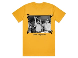 "Cult ""Gloom Everywhere"" T-Shirt - Gold"