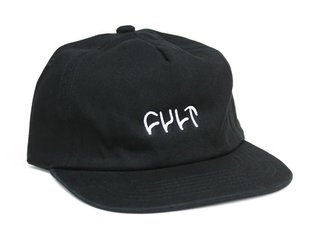 "Cult ""Logo"" Cap - Black"