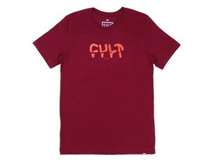 "Cult ""Sicko"" T-Shirt - Burgundy"
