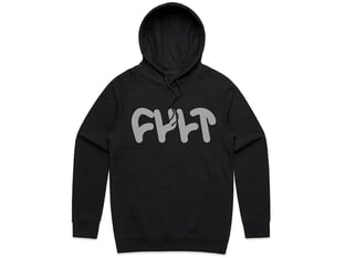 "Cult ""Thick Logo"" Hooded Pullover - Black"