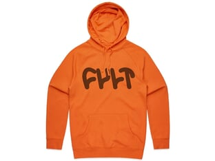"Cult ""Thick Logo"" Hooded Pullover - Orange"