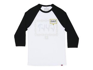 "Cult ""Throw Away The Key"" 3/4 Longsleeve - White/Black"