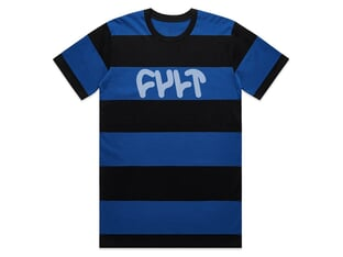 "Cult ""Wide Stripe"" T-Shirt - Blue/Black"
