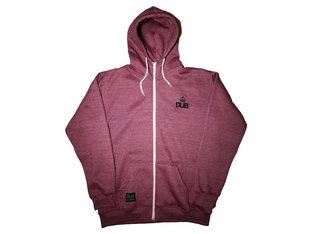 "DUB BMX ""Kop"" Hooded Zipper - Burgundy"