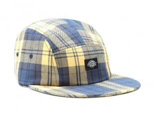 "Dickies ""Hornbeck Check 5 Panel"" Kappe - Air Force Blue"