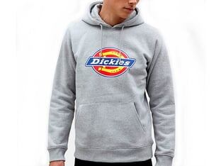 "Dickies ""Icon Logo"" Hooded Pullover - Grey Melange"