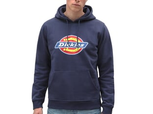 "Dickies ""Icon Logo"" Hooded Pullover - Navy Blue"