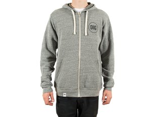 "Dig BMX Magazine ""Circle Zip"" Hooded Zipper - Grey"