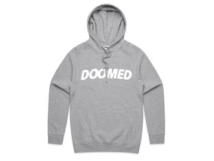 "Doomed Brand ""Archie"" Hooded Pullover - Heather Grey"