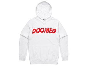 "Doomed Brand ""Archie"" Hooded Pullover - White"
