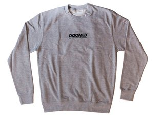"Doomed Brand ""CREW"" Pullover - Grey"