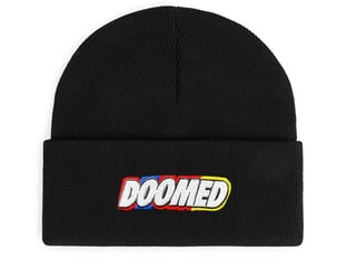 "Doomed Brand ""Colour"" Beanie Mütze - Black"
