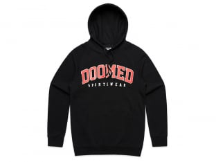 "Doomed Brand ""Dropout"" Hooded Pullover - Black"