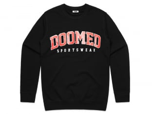 "Doomed Brand ""Dropout Sweater"" Pullover - Black"