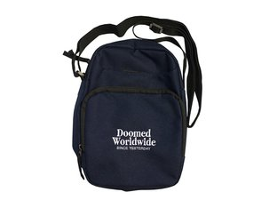 "Doomed Brand ""Duf"" Shoulder Bag - Navy-Blue"