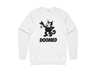 "Doomed Brand ""Felix Sweater"" Pullover - White"