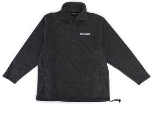 "Doomed Brand ""Fleeced Half Zip"" Pullover - Black"
