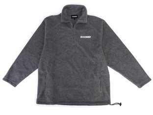 "Doomed Brand ""Fleeced Half Zip"" Pullover - Grey"