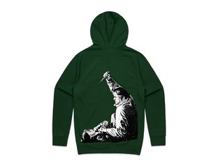 "Doomed Brand ""Knife"" Hooded Pullover - Dark Green"