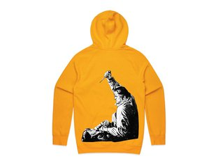 "Doomed Brand ""Knife"" Hooded Pullover - Yellow Gold"