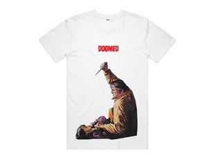 "Doomed Brand ""Knife"" T-Shirt - White"
