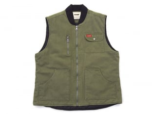 "Doomed Brand ""Labor"" Weste - Green/Brown"