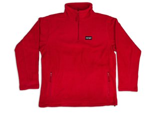 "Doomed Brand ""Mountain Quarter Zip Fleece"" Pullover - Red"