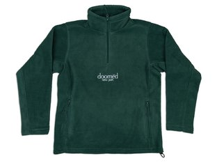 "Doomed Brand ""New Port Quarter Zip Fleece"" Pullover - Dark Green"