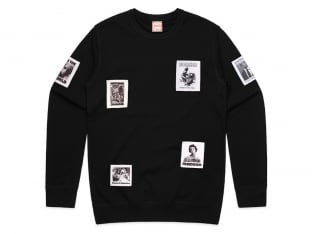 "Doomed Brand ""Patch Sweater"" Pullover - Black"