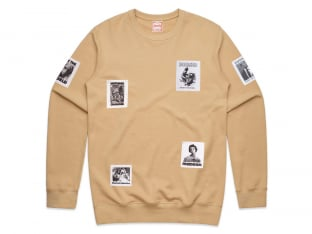 "Doomed Brand ""Patch Sweater"" Pullover - Tan"