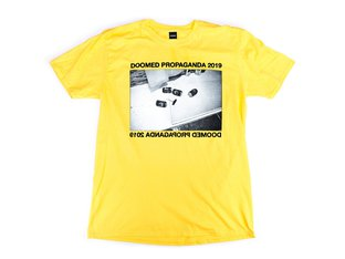 "Doomed Brand ""Propaganda"" T-Shirt - Yellow"
