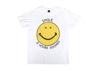 "Doomed Brand ""Smile"" T-Shirt - White"
