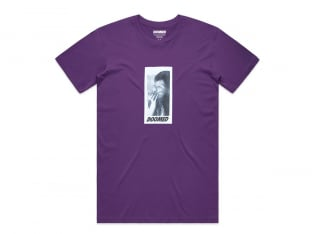 "Doomed Brand ""Smoker"" T-Shirt - Purple"